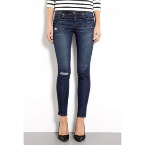 J Brand Distressed Skinny Jeans Salem Wash